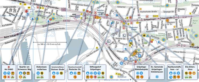 Ausschnitt Stadtplan Gröpelingen