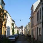 """Eine typische Wohnstraße mit den alten """"Bremer Häusern"""""""