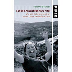 Schöne Aussichten fürs Alter, Buchcover mit fröhlicher Frau