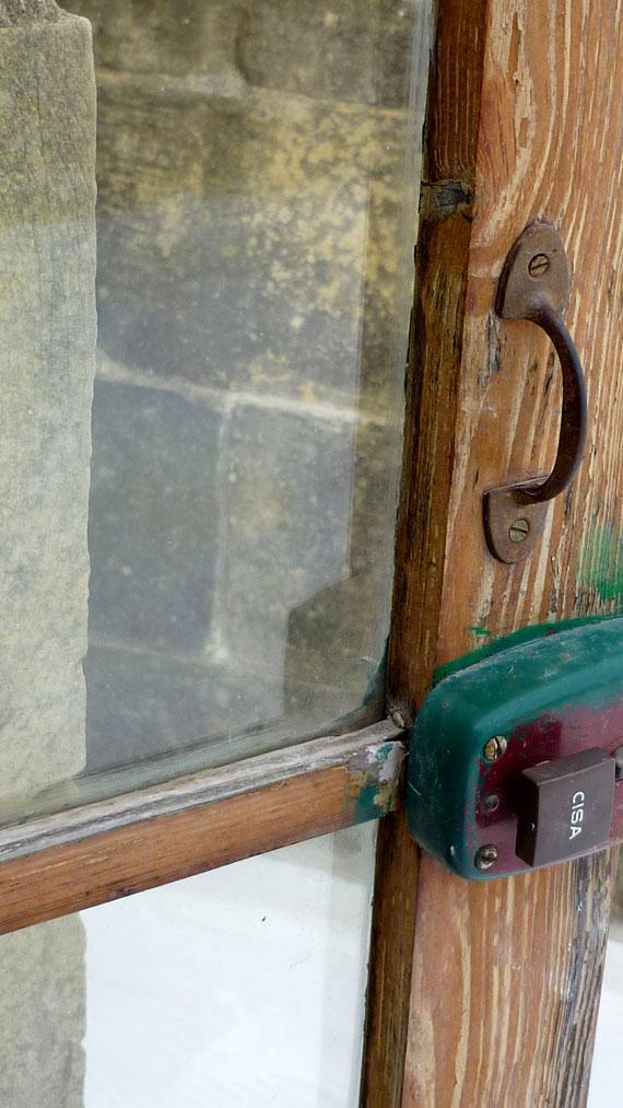 Enkeltrick Tür mit Riegel