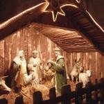 Weihnachtskrippe mit Beleuchtung