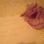 Schriftzug und Rose