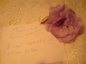 testament, Schriftzug und Rose