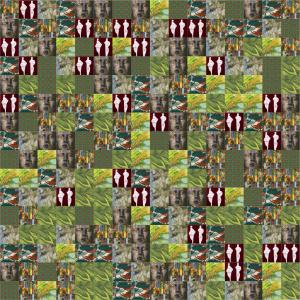 Bild, aus vielen kleinen Bildern zusammen gesetzt