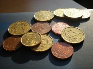Centstücke, Geld, Rente