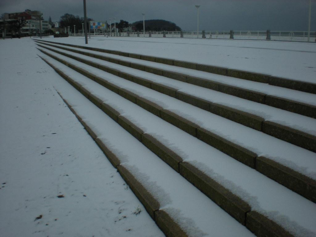 Treppen im Schnee