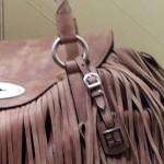 Lederne Handtasche
