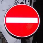 Technik für Senioren, Verkehrsschild: Einfahrt verboten