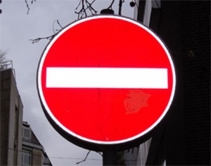 Verkehrsschild: Einfahrt verboten