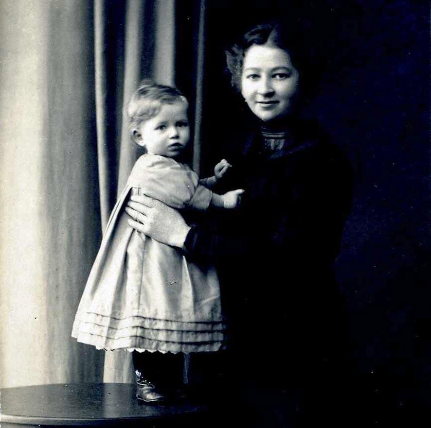 Portrait Mutter und Kind, schw./weiß