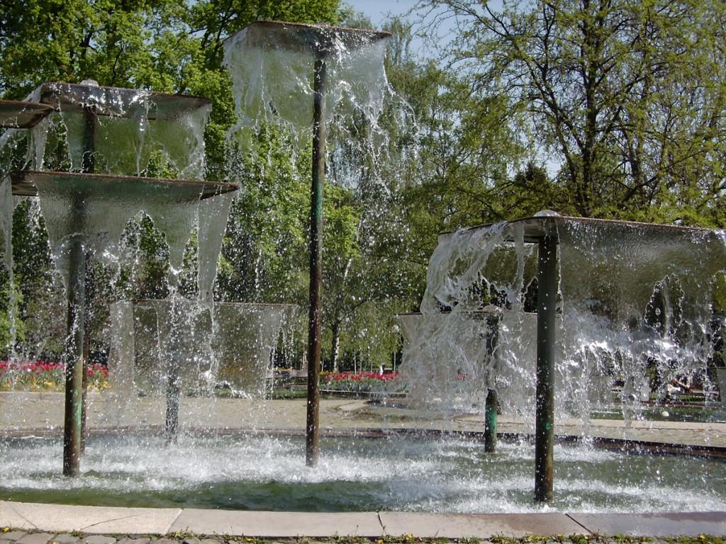 moderner Springbrunnen