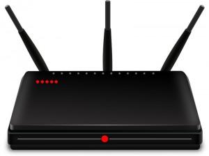 Schwarzer Router