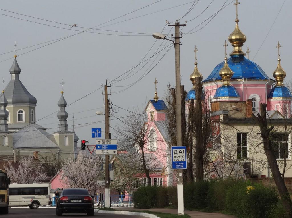Ein Foto von einer russischen Stadt.