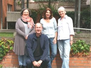 Das Kernteam v.l.: Hicran Gündogdu,  Hans Günter Böttjer,       Astrid Gallinger, Gabriele Jungwirt (Freiwillige)