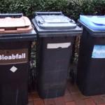 Drei Mülltonnen