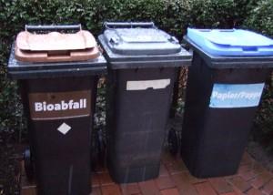 Müll: Drei Mülltonnen