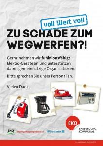Plakat mit verschiedenen Elektrogeräten