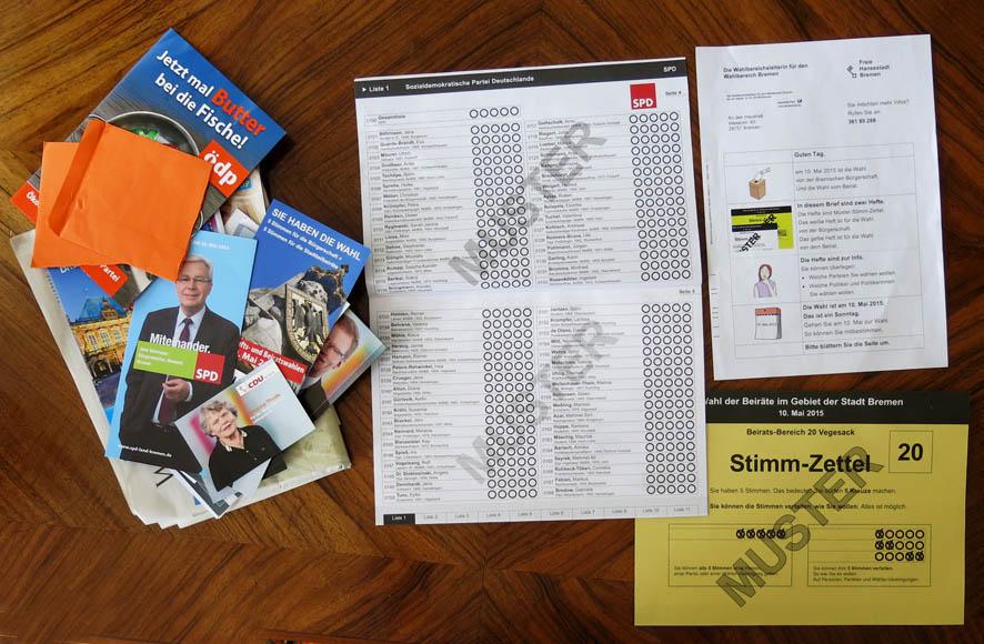 Wahlhefte und Parteiprospekte