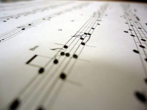 Gedruckte Musiknoten