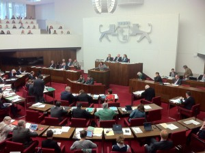 Antrag an die Bürgerschaft, Sitzungssaal der Bremer Bürgerschaft
