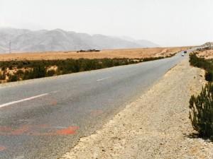 Straße durch die Wüste