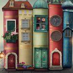 Lesepaten, Bücher als Häuserzeile