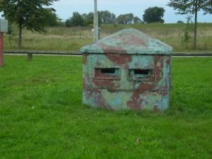 Bunkerähnliche Unterkunft von Grenzposten
