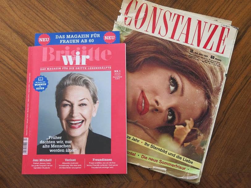 Titelblätter Brigitte Wir und Constanze