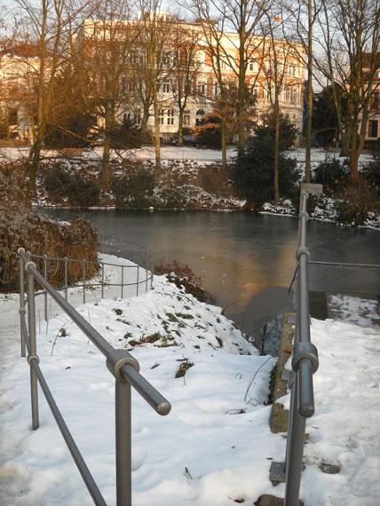 Winter in Bremen, Wallanlagen im Winter