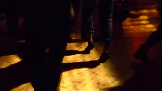 Füße beim Tanzen