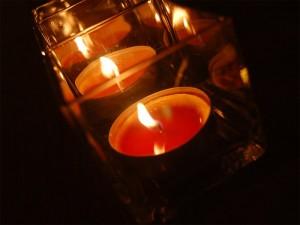 Weihnachtsbeleuchtung 2015 Teelichte