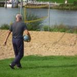 Mann mit Ball