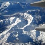 Luftbild der Alpen