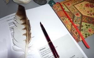 Füllfederhalter, Feder und ein Gedicht