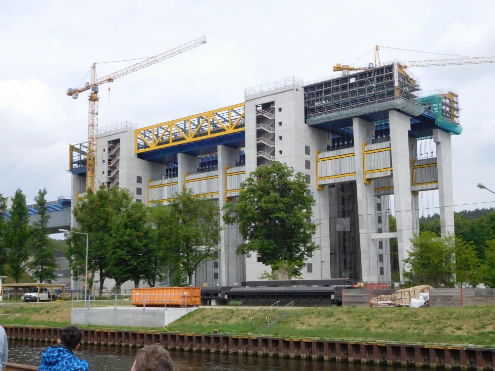 Niederfinow Blick auf den Neubau