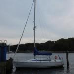 Ferien Segelboot auf einem See