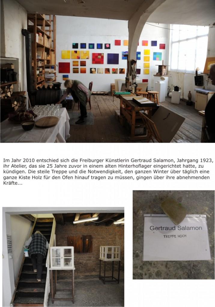 Künstlerin in ihrem Atelier