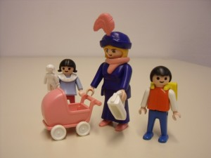 Playmobilfiguren Mutter/Oma mit Kindern