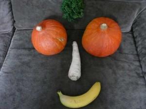 Gesicht aus Obst und Gemüse