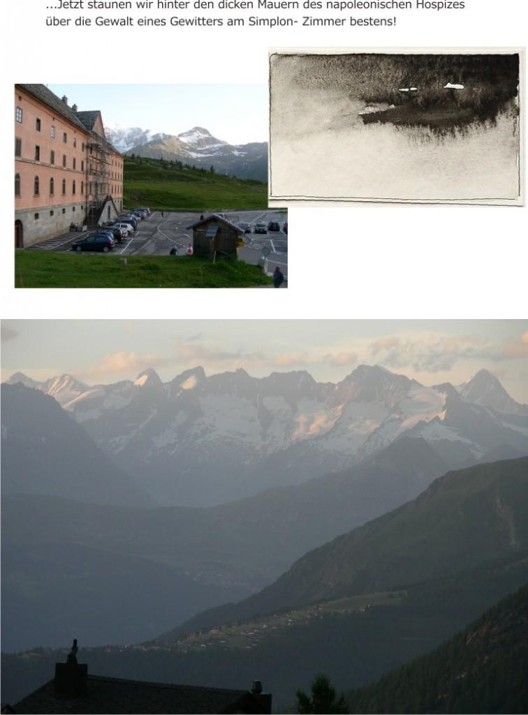 Alpenpanorama im Nebel