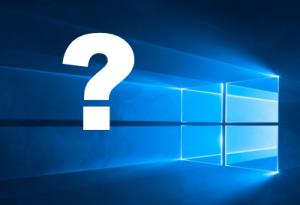 Windows-Symbol mit Fragezeichen