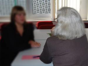 Seniorenvertretung, zwei Frauen im Gespräch