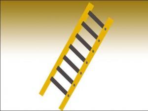 Grafik einer gelben Leiter
