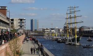 Die Alexander von Humboldt bei ihrer Ankunft im Europahafen