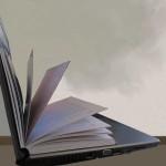 Buch in Laptop