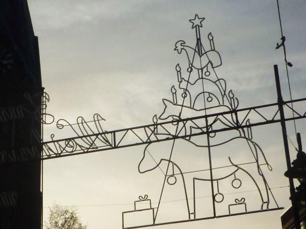 Bremer Stadtmusikanten als Weihnachtsbeleuchtung