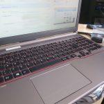Verknüpfung zu einer Internetseite auf dem Desktop, Laptop geöffnet