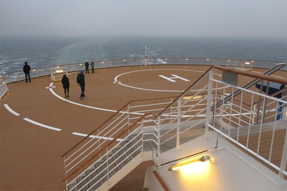 Landeplatz auf einem Schiffsheck