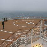 Landeplatz für einen Hubschrauber auf einem Schiffsheck