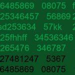 Datenflut auf einem Bildschirm